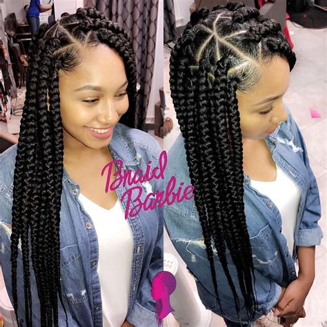 large or extra large box braids 4 634 likes 34 comments braid barbie the movement