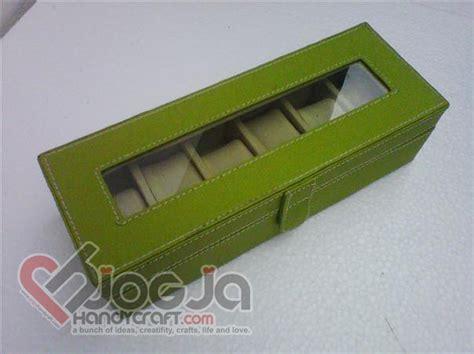Box Jam Isi 6 Mix Aksesories Biru box jam tangan isi 6 green inner jogja handycraft suplier kerajinan kulit sintetis