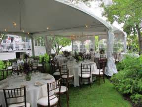 a small backyard affair official blue peak tents - Backyard Wedding Tent