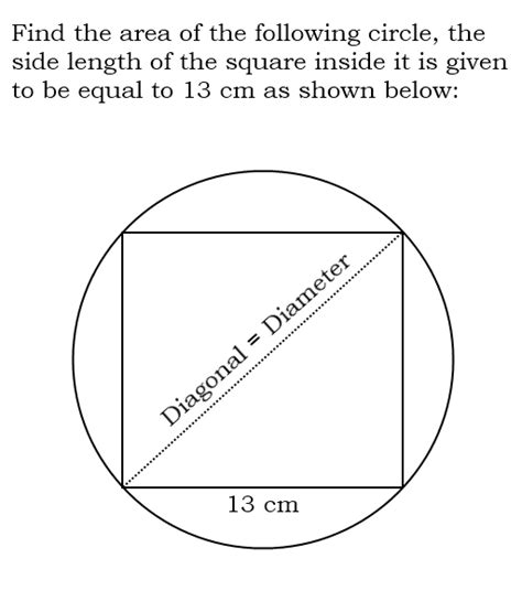 Interior Of The Circle by Square Inside A Circle