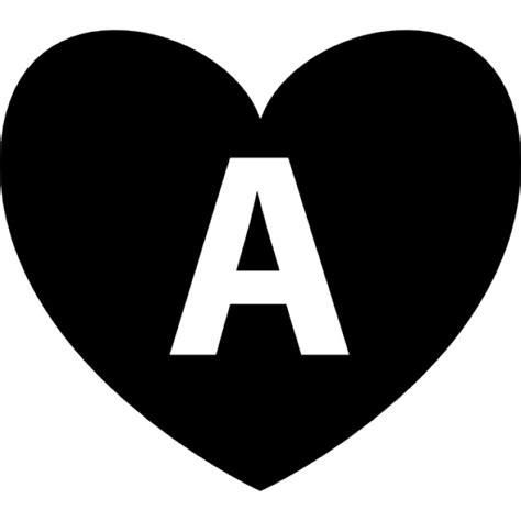 cuore con lettere cuore con la lettera a all interno scaricare icone gratis