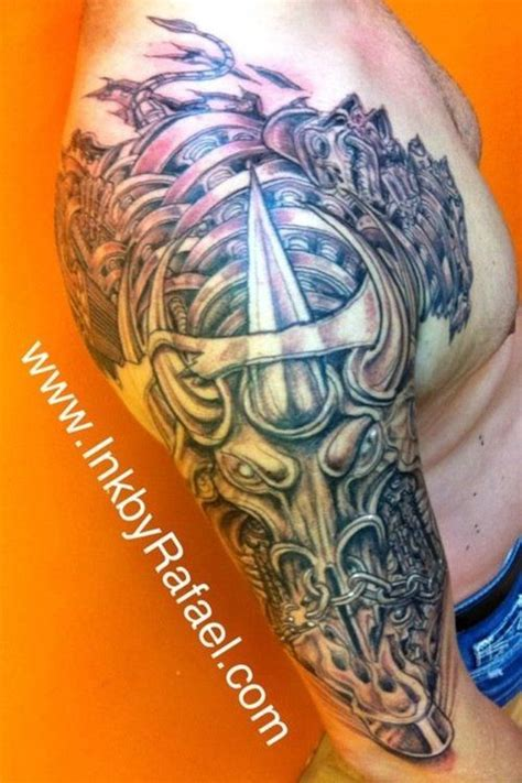 mechanical bull tattoo 29 best bio mech tattoos images on pinterest