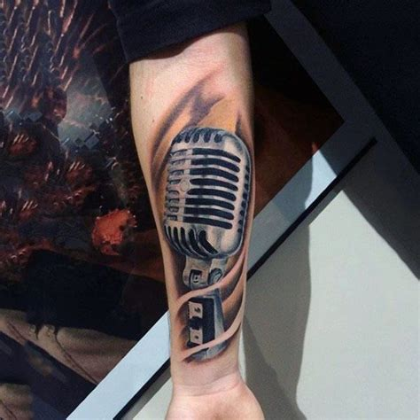 microphone tattoo on arm 78 best ideas about microphone tattoo on pinterest music