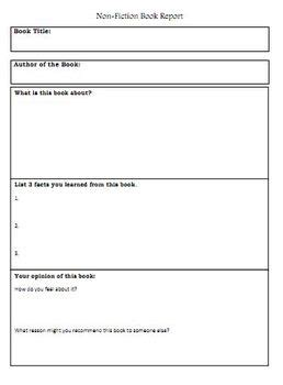 graphic organizer for book report non fiction book report graphic organizer by rebekah