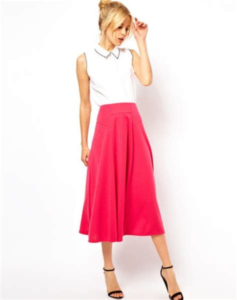 asos midi skirt with stitch waist detail saved by chic n
