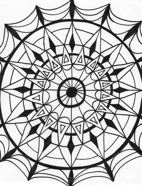 kaleidoscope coloring pages for adults kaleidoscope coloring pages for adults coloring home
