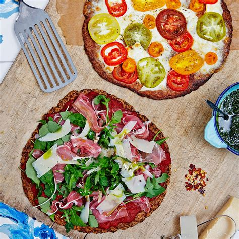 flower food without cauliflower pizza and home