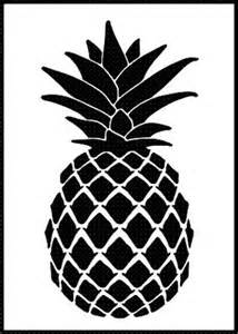 pineapple airbrush stencil template paint wall home decor