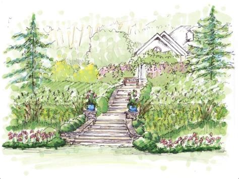 drawing of garden landscape plants pa total landscape solutions wichita