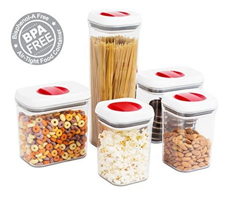 5 piece acrylic canister set locking cls cookies flour compare price sugar flour pasta containers on