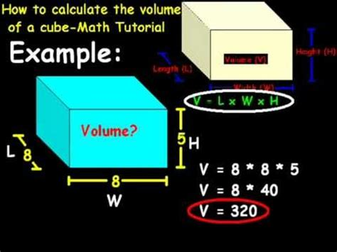 How To Find You How To Calculate The Volume Of A Cube Math Tutorial