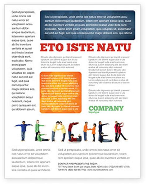 teacher of class flyer template background in microsoft