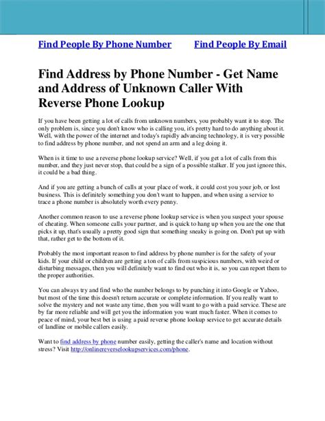 Email Address Search By Phone Number Find Address By Phone Number Get Name And Address Of Unknown Caller
