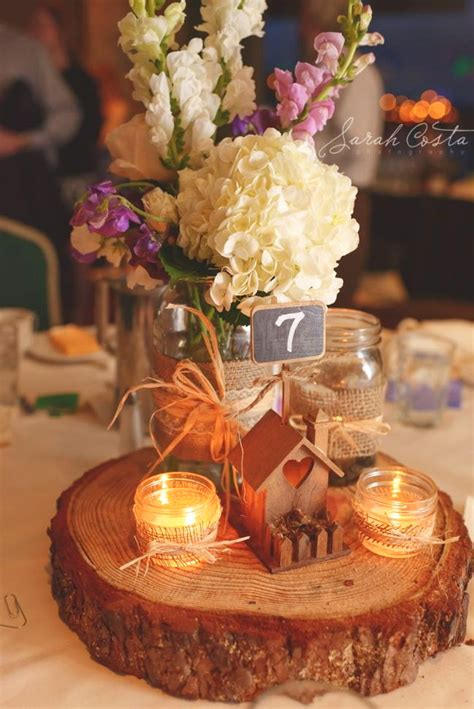 country centerpieces 12 country wedding wood centerpieces unique cheap