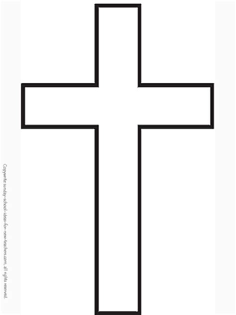 template of a cross cross coloring page search class crafts sunday school and template