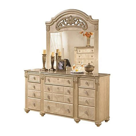 ashley saveaha  queen size poster bedroom set pcs traditional style ebay