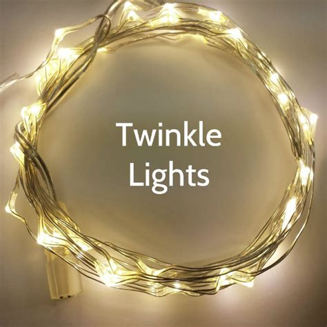 50 warm white twinkle fairy light strand 16 foot silver wire