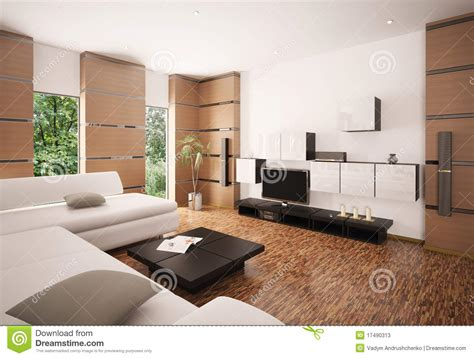 Modern Living Room Ls by Modern Living Room Interior 3d Render Stock Illustration