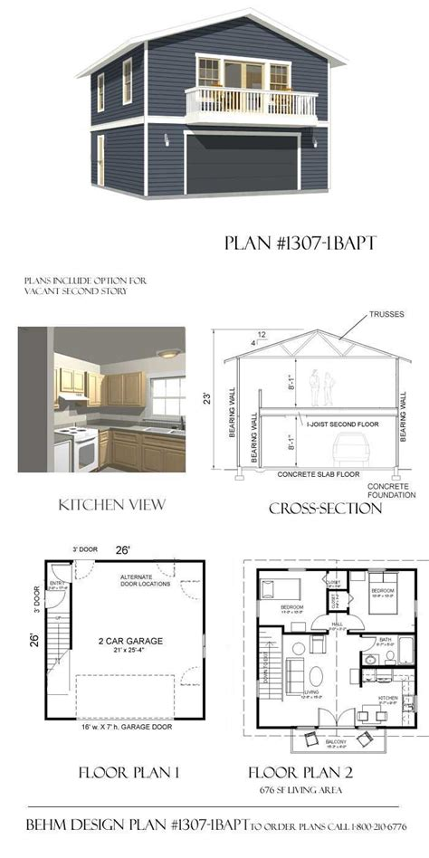 Apartment Plans With Garage by 91 Best Apartments Above Garages Images On