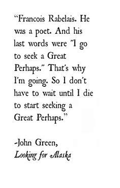 JOHN GREEN LOOKING FOR ALASKA QUOTES LABYRINTH image