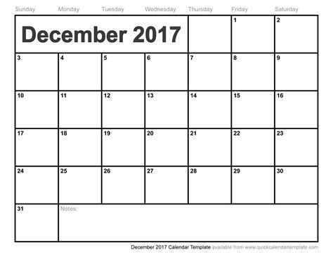 December 2017 Calendar   weekly calendar template