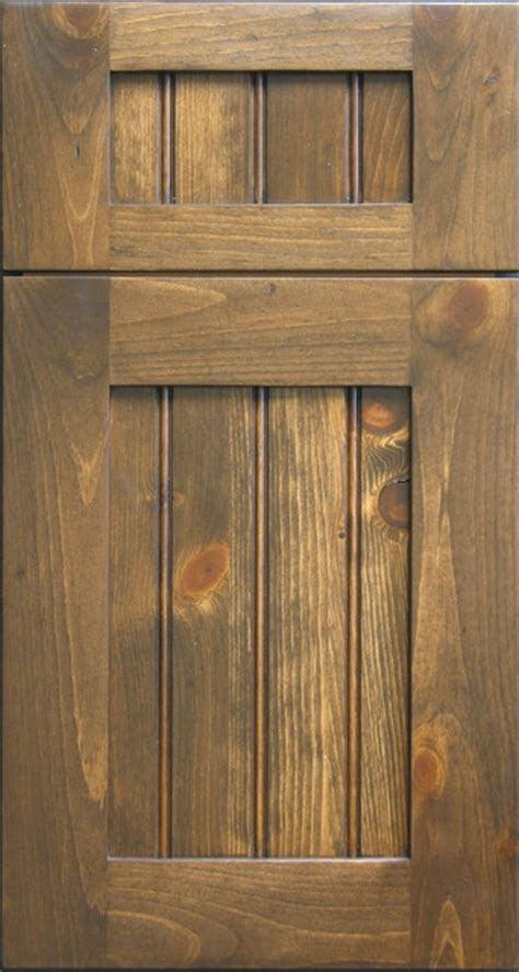 Rustic Kitchen Cabinet Doors Knotty Pine Shaker Door With Beaded Panel Rustic Other Metro By Style Line Custom Hardwood