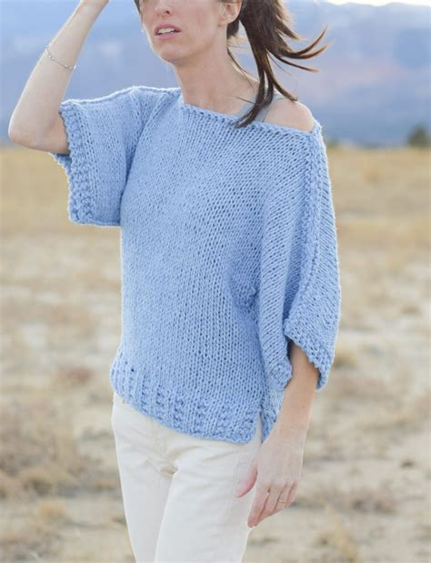 how to knit a sweater for beginners easy knit boxy t shirt quot quot pattern in a stitch