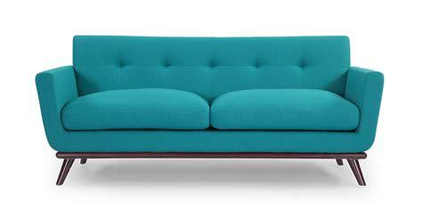 mid century modern loveseat jackie mid century modern classic loveseat turquoise