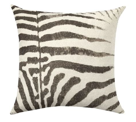 Outdoor Zebra Cushions Zebra Print Indoor Outdoor Pillow Pottery Barn