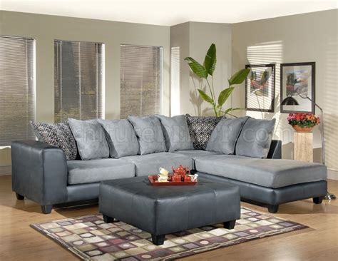 sectional sofas grey grey fabric sectional sofa w leather base optional ottoman