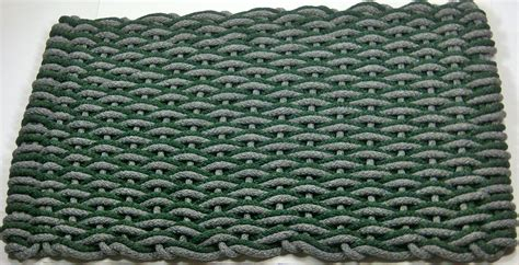 forest green boat carpet forest green gray wave rope carpet yarn doormat