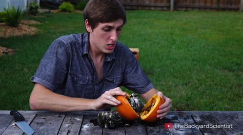 backyard scientist watch what happens when you pour molten aluminum into a