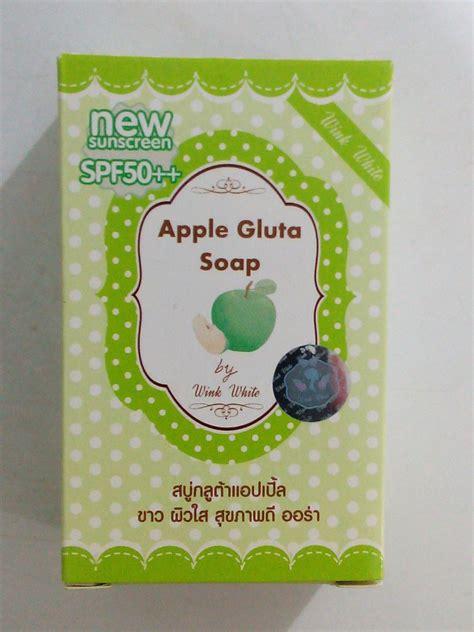 Gluta Wink Soap gluta soap wink white whitening soap 70g apple gluta soap