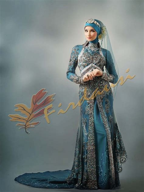 Baju Muslim Warna Biru Dongker griya firdausi grita pengantin muslim