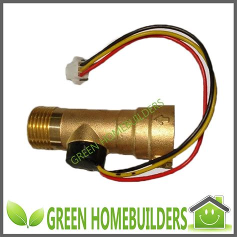 Water Flow Sensor 1 2 Brass Copper Waterflow brass electronic flow sensor meter for solar water heater 0 1 20l m g1 2 inlet and