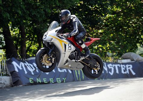Motorradrennen Rijeka 2018 by Martin Catches Some Air At The Tt Motorcycles