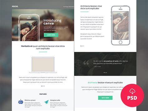 freebie canva multipurpose newsletter email psd on behance
