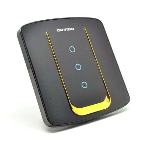 3 Smart Light Switch by Orvibo Smart Light Switch 3 Loop 433 Mhz Rf Black