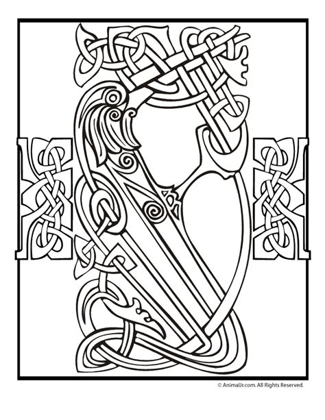 irish coloring book pages celtic cross coloring pages az coloring pages