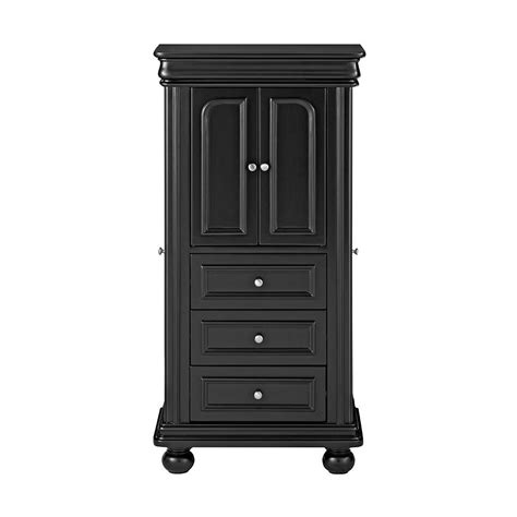 Armoire Home Depot by Home Decorators Collection Genevieve Black Jewelry Armoire