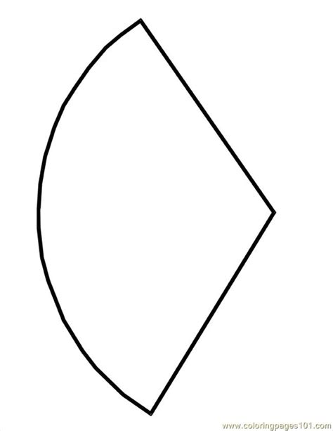 Cone Shape Template Coloring Page - Free Shapes Coloring