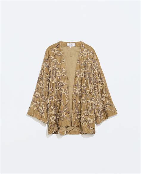 Handmade Kimono - zara handmade velvet kimono in brown mink lyst