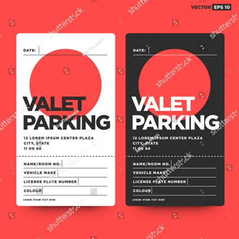 5 restaurant parking ticket templates designs psd ai