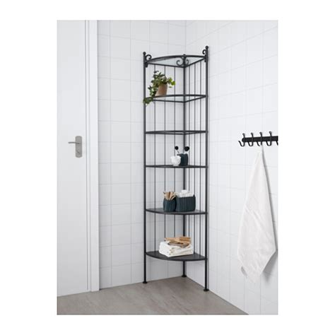 R 214 Nnsk 196 R Corner Shelf Unit Black Ikea Corner Shelves Ikea