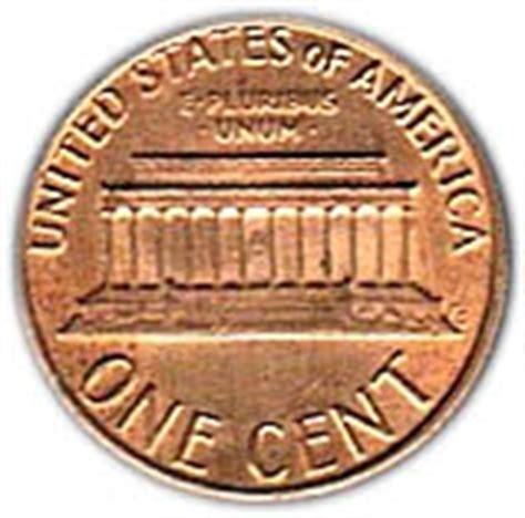 uni fg lettere 1 cent quot lincoln memorial quot zinc plaqu 233 cuivre