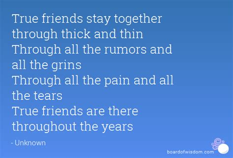 forever friends through thick and thin and the end books thick and thin quotes like success