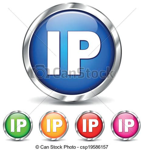 International Ip Address Lookup Clipart Vector Of Vector Ip Address Icons Vector Illustration Of Ip Adress