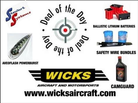 wicks aircraft wicks aircraft supply