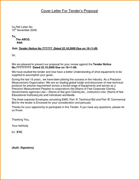cover letter za 6 application letter of tender quote templates lexar f template