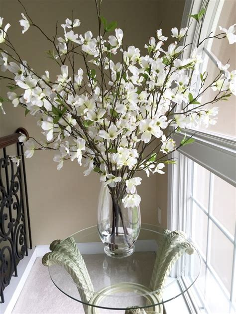 Vase Arrangements Branches by Beautiful Dogwood Branches In Large Glass Vase Beautiful